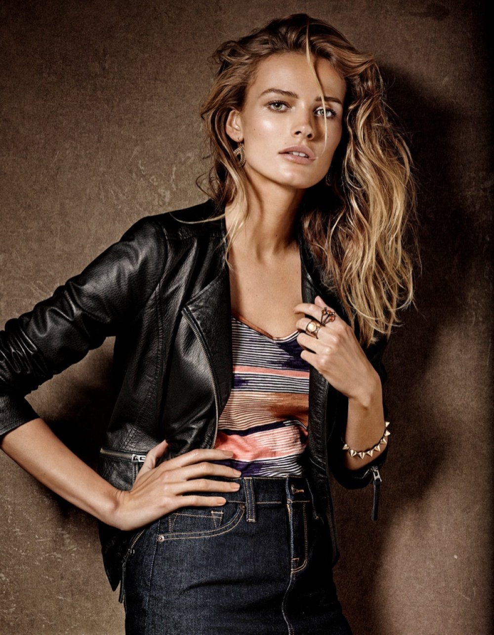 Fall 2013 Campaign for Lucky Brand. Edita is stunning as always styled in relaxed denim combinations accompanied by knitted sweaters, leather jackets