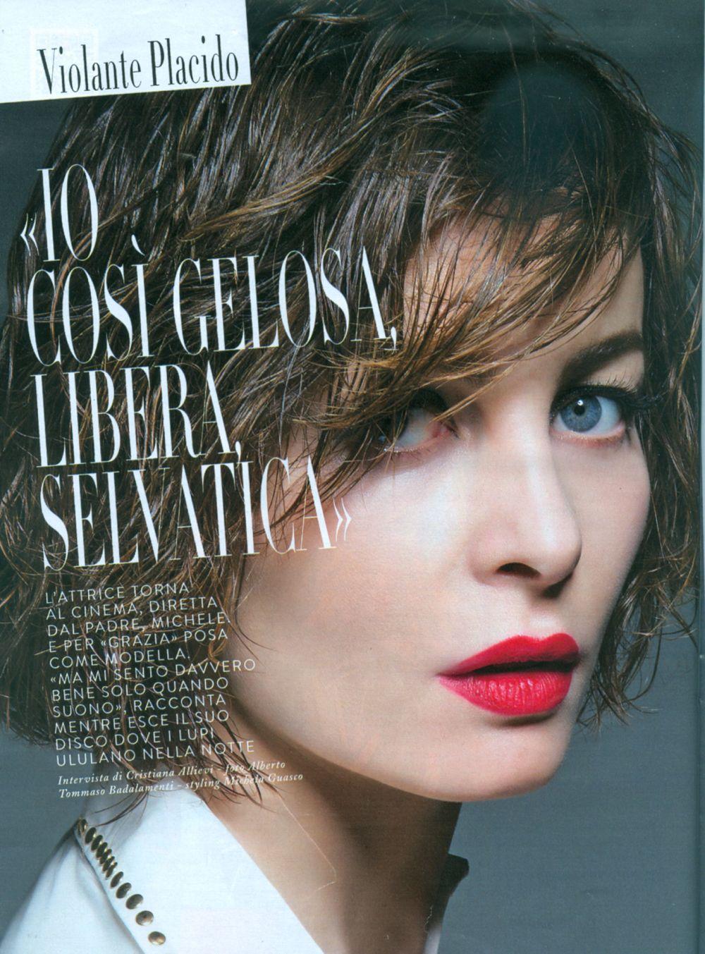 Violante Placido posa per la copertina di Grazia Magazine ...